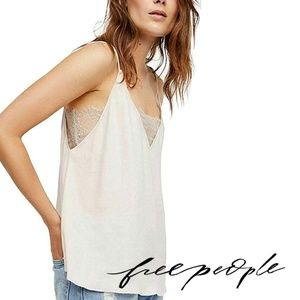 Free People intimately Deep V Lace Bandeau Cami
